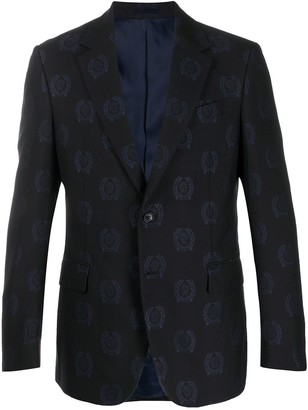 Versace All Over Logo Suit
