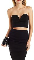 Charlotte Russe Strapless Sweetheart Bustier Top