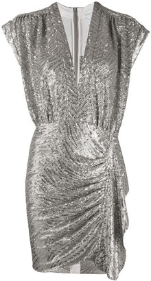 IRO sequin draped fitted dress