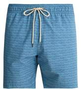 Faherty Beacon triangle-print swim shorts