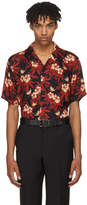 SSS World Corp Red and Black Weed Hibiscus Magnum Hawaiian Shirt