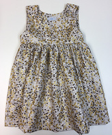 Princess Linens Silver & Gold Dot Sleeveless Dress - Infant, Toddler & Girls