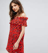 Missguided Paisley Print Bardot Swing Dress