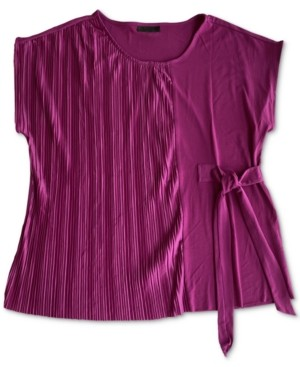 Alfani Pleated Side-Tie Top, Created for Macy's