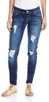 YMI Jeanswear Women's Wannabettabutt Rip and Tear Skinny