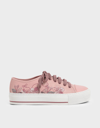 Charles & Keith Embroidered Sneakers