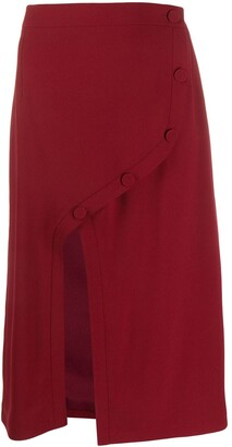Rokh Front Slit Midi Skirt