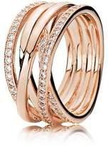 Pandora Rose entwine ring