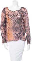 Rebecca Minkoff Silk Abstract Printed Blouse