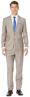 Kenneth Cole Reaction Solid Slim Fit Stretch Performance Suit (Tan) Men's Suits Sets
