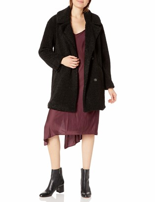 Lucky Brand Women's Notch Collar Teddy Jacket