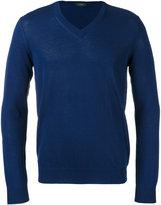 Zanone V-neck jumper - men - Cotton - 46