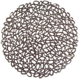 Chilewich Pressed Pebble Round Placemat - Gunmetal