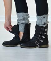 Light Gray Button-Down Boot Cuffs