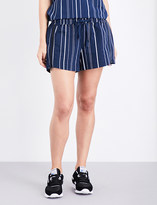 The Upside Pinstripe cotton-blend jersey shorts