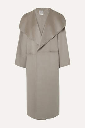 Totême Annecy Oversized Wool And Cashmere-blend Coat - Gray