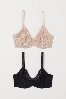H&M H&M+ 2-pack underwired bras