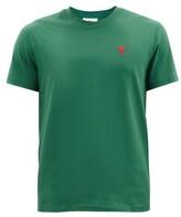 Thumbnail for your product : Ami De Cur-logo Organic-cotton Jersey T-shirt - Green