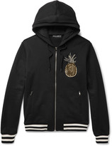 Dolce & Gabbana Embellished Loopback Cotton-Jersey Hoodie