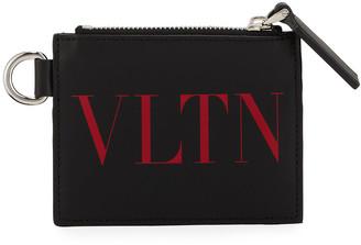 Valentino Men's VLTN Leather Card Case