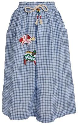 Mira Mikati Animal Patch Check Midi Skirt