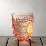 Crate & Barrel Dottie Orange Acrylic 17 oz. Drink Glass