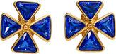 One Kings Lane Vintage YSL Electric Blue Clip Back Earrings