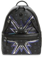 MCM Dual Stark Cyber Backpack - Black