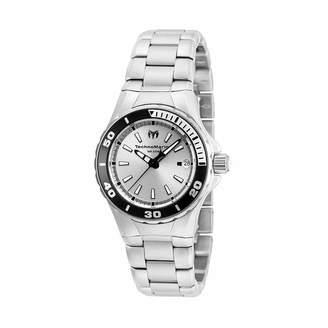 Technomarine TECHNO MARINE Techno Marine Womens Silver Tone Stainless Steel Bracelet Watch-Tm-215060
