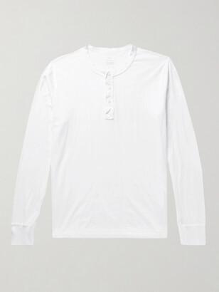 SAVE KHAKI UNITED Supima Cotton-Jersey Henley T-Shirt