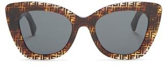 Fendi Ff Cat-eye Acetate Sunglasses - Brown Multi