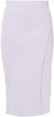 Jonathan Simkhai Wrap-effect Ribbed-knit Skirt