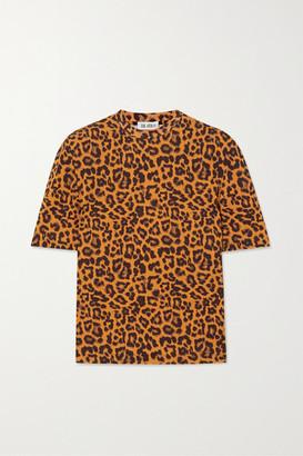 ATTICO Bella Leopard-print Cotton-jersey T-shirt - Black