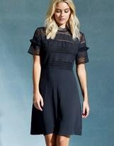 Vila High Neck Lace Bodycon Dress