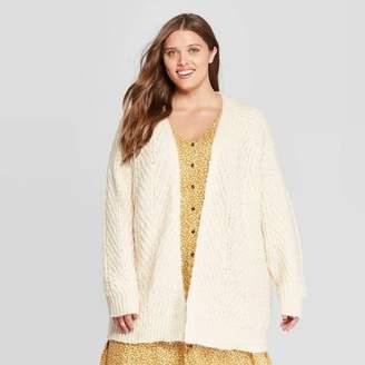 Universal Thread Women's Plus Size Long Sleeve Chunky Open Layering Cardigan
