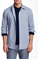 Slate & Stone Spread Collar Check Long Sleeve Trim Fit Shirt