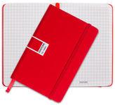Pantone NEW Tomato Pocket Grid Elastic Band Notebook