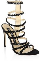 Sergio Rossi Kimberly Crystal Gladiator Sandals