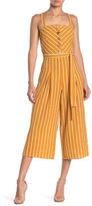 Rowa Striped Gaucho Jumpsuit