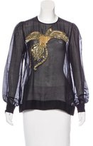 No.21 No. 21 Embellished Long Sleeve Top w/ Tags