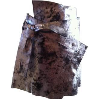 Edun Silver Leather Skirts