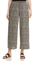 Eileen Fisher Petites Dot Print Wide Leg Crop Pants