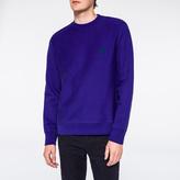 Paul Smith Men's Purple Flocked PS Logo Sweatshirt