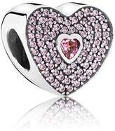 Pandora Heart silver and cubic zirconia charm