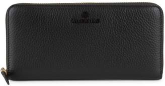 Mario Valentino Valentino By Farley Pebbled-Leather Zip-Around Long Wallet