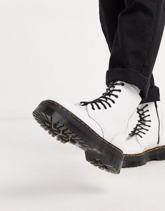 Dr. Martens jadon platform boots in white leather
