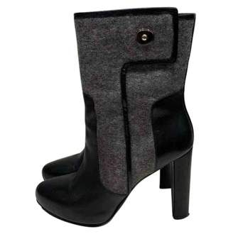 Balenciaga \N Grey Leather Ankle boots