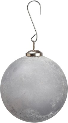 """Allstate 5"""" Frosted Glass Ball Ornament"""