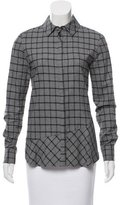 Thakoon Plaid Button-Up Top