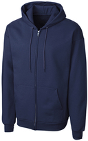 Clique Navy Fleece Zip-Up Hoodie - Unisex
